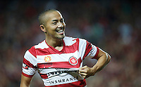 Wanderers Shinji Ono reacts after scoring during his A-League match against Wanderers in Sydney, March 8, 2014. VIEWPRESS/Daniel Munoz EDITORIAL USE ONLY