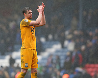 Preston North End's Paul Huntington applauds the fans after the final whistle<br /> <br /> Photographer Stephen White/CameraSport<br /> <br /> The EFL Sky Bet Championship - Blackburn Rovers v Preston North End - Saturday 18th March 2017 - Ewood Park - Blackburn<br /> <br /> World Copyright &copy; 2017 CameraSport. All rights reserved. 43 Linden Ave. Countesthorpe. Leicester. England. LE8 5PG - Tel: +44 (0) 116 277 4147 - admin@camerasport.com - www.camerasport.com
