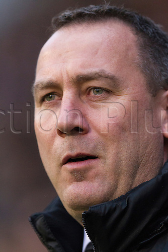 21.12.2013 London, England.  Fulham's Head Coach Rene MEULENSTEEN before the Premier League game between Fulham and Manchester City from Craven Cottage.