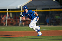 Eric Cole (2) of the Burlington Royals takes off for second base during the game against the Kingsport Mets at Burlington Athletic Stadium on July 27, 2018 in Burlington, North Carolina. The Mets defeated the Royals 8-0.  (Brian Westerholt/Four Seam Images)