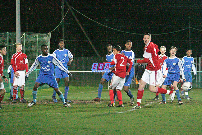BRIDON ROPES v EBBSFLEET UNITED<br /> KENT YOUTH LEAGUE U14 CUP FINAL THURSDAY 8TH MARCH 2012 LORDSWOOD FC