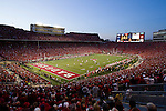 A general view of Camp Randall Stadium during the Wisconsin Badgers NCAA college football game against the Ohio State Buckeyes on October 16, 2010 in Madison, Wisconsin. The Badgers beat the Buckeyes 31-18. (Photo by David Stluka)