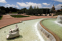 Jardins de Joan Maragall auf dem Montjuic, Barcelona, Spanien