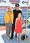WESTWOOD, CA - JUNE 30: (L-R) Judith M. Spade, David Spade and Harper Spade attend the Columbia Pictures and Sony Pictures Animation's world premiere of 'Hotel Transylvania 3: Summer Vacation' at Regency Village Theatre on June 30, 2018 in Westwood, California.
