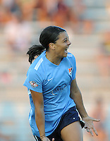 Boyds, MD - Saturday June 25, 2016: Samantha Kerr during a United States National Women's Soccer League (NWSL) match between the Washington Spirit and Sky Blue FC at Maureen Hendricks Field, Maryland SoccerPlex.