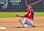 23 February 2013: Washington Nationals outfielder Eury Perez slides safely into second during Spring Training action against the New York Mets at Tradition Field in Port St. Lucie, Florida. The Mets defeated the Nationals 5-3 in their Grapefruit League Opening Day game. Mandatory Credit: Ed Wolfstein Photo *** RAW (NEF) Image File Available ***