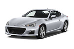 2015 Subaru BRZ Limited AT 2 Door Coupe Angular Front stock photos of front three quarter view