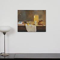 "Sanchez: ""Light Bulb, Vase, Lemon"", Digital Print, Image Dims. 17"" x 22"", Unframed"