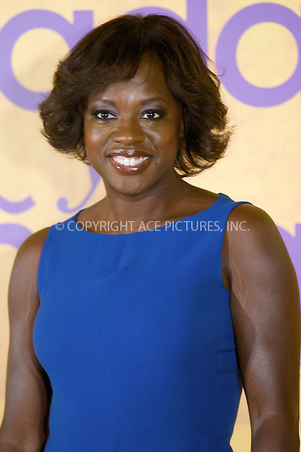 WWW.ACEPIXS.COM . . . . .  ..... . . . . US SALES ONLY . . . . .....October 3 2011, Madrid....Viola Davis attends the 'Criadas y Senoras' (The Help) photocall at the Hesperia Hotel on October 3, 2011 in Madrid, Spain. ....Please byline: FD/ACE Pictures, Inc.... . . . .  ....Ace Pictures, Inc:  ..Tel: (212) 243-8787..e-mail: info@acepixs.com..web: http://www.acepixs.com