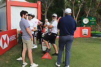 Cormac Sharvin (NIR) and Shane Lowry (IRL) on the 10th during the Pro-Am of the Abu Dhabi HSBC Championship 2020 at the Abu Dhabi Golf Club, Abu Dhabi, United Arab Emirates. 15/01/2020<br /> Picture: Golffile | Thos Caffrey<br /> <br /> <br /> All photo usage must carry mandatory copyright credit (© Golffile | Thos Caffrey)