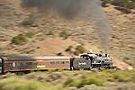 San Luis & Rio Grande Railroad  Railroad's No. 18, climbing the easter grade of La Veta Pass along Wagon Creek in the Sangre de Cristo Range in Colorado..(ALCO 2-8-0 ex Grand Canyon 18 and LS&I 18)