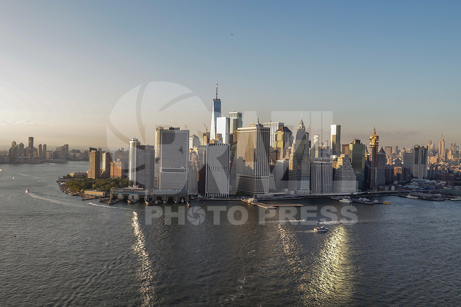 NOVA YORK, EUA, 17.09.2018 - CIDADE-NOVA YORK - Vista aerea do One World TRade Center da cidade de Nova York nos Estados Unidos (Foto: Vanessa Carvalho/Brazil Photo Press)