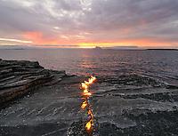 Burning rock. It all started with a fire. The beginning of our civilisation. Landscape, landskap,