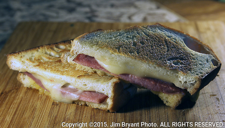 Grilled Cheese Sandwich.  ©2015. Jim Bryant Photo. ALL RIGHTS RESERVED.
