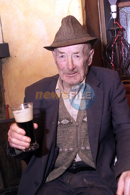 Kit Sherlock celebrating his birthday and 67 years of being a regular at the Gorman Loch Pub..pic: Newsfile