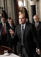 20130322 ROMA-POLITICA: GOVERNO, NAPOLITANO DÀ L'INCARICO A BERSANI