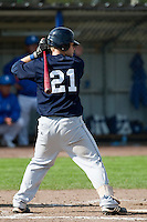 14 September 2009: Catcher Christopher Berset is seen at bat during the 2009 Baseball World Cup Group F second round match game won 15-5 by South Korea over Great Britain, in the Dutch city of Amsterdan, Netherlands.