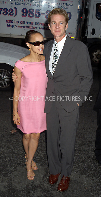 New York Premiere of Le Divorce. Pictured: Matthew Modine and wife. New York, August 5, 2003. Please byline: NY Photo Press.   ..*PAY-PER-USE*      ....NY Photo Press:  ..phone (646) 267-6913;   ..e-mail: info@nyphotopress.com