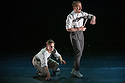 "London, UK. 15.04.2014. HeadSpaceDance present IF PLAY IS PLAY..., a triple bill of new work, in the Linbury Studio, Royal Opera House, London. Picture shows: Clemmie Sveaas and Christopher Akrill, in ""Before the Interval"".  Photograph © Jane Hobson."