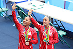(L to R) Risako Mitsui, Yukiko Inui (JPN), <br /> AUGUST 16, 2016 - Synchronized Swimming : <br /> Duets Technical Routine <br /> at Maria Lenk Aquatics Centre <br /> during the Rio 2016 Olympic Games in Rio de Janeiro, Brazil. <br /> (Photo by Koji Aoki/AFLO SPORT)