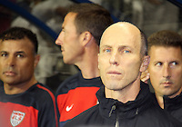 Bob Bradley head coach of the USA MNT during an international friendly match against Colombia at PPL Park, on October 12 2010 in Chester, PA. The game ended in a 0-0 tie.