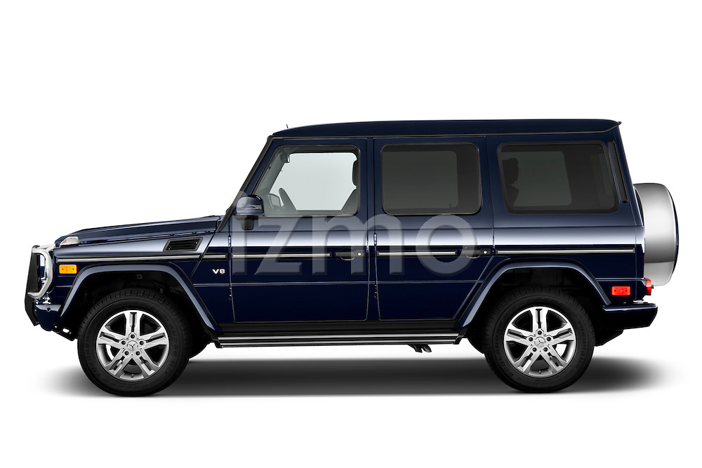 2013 Mercedes-Benz G-Class G550 SUV Side View Stock Photo
