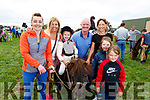 Enjoying the Killorglin horse and pony show on Sunday.<br /> L-r, Trisha Teehan, Mary Anne Teehan (Dooks), Ellie Foley, John Foley (Crommane), Lilly O&rsquo;Shea, Grace Collins (Killarney) and Anna Griffin (Miltown) with Sparky the horse.
