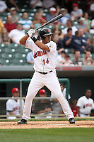 Luis Matos - Indianapolis Indians.  Photo: Chris Proctor/Four Seam Images
