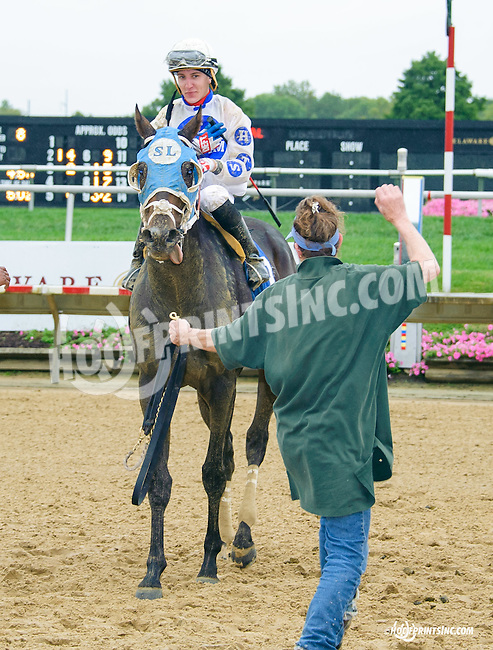 Risky Guy winning at Delaware Park on 9/30/15