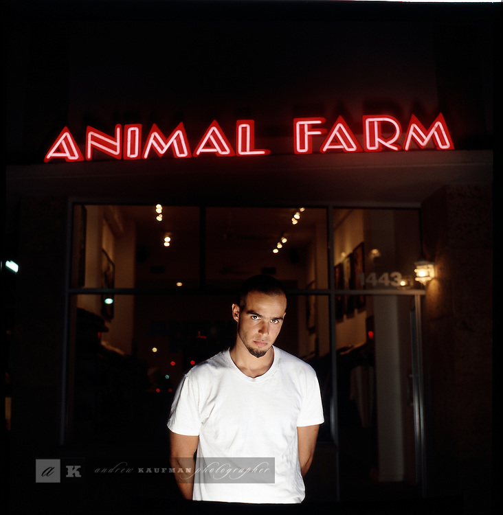 In the early 90's these people were early visionaries of South Beach. Each a mover in their circles and a moment where South Beach started and made a name for itself with these creative influences..Boutique and gallery:.Don Busweiler of Animal Farm