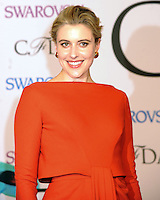 NEW YORK CITY, NY, USA - JUNE 02: Greta Gerwig arrives at the 2014 CFDA Fashion Awards held at Alice Tully Hall, Lincoln Center on June 2, 2014 in New York City, New York, United States. (Photo by Celebrity Monitor)