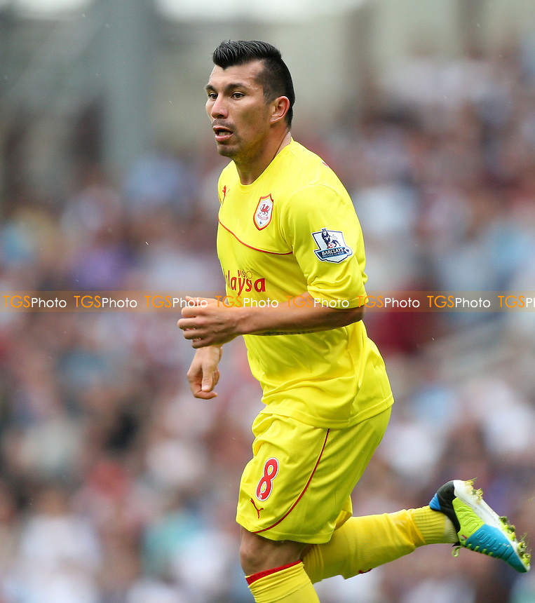 Gary Medel of Cardiff - West Ham United vs Cardiff City, Barclays Premier League at Upton Park, West Ham - 17/08/13 - MANDATORY CREDIT: Rob Newell/TGSPHOTO - Self billing applies where appropriate - 0845 094 6026 - contact@tgsphoto.co.uk - NO UNPAID USE