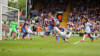 Pictured: Jack Cork of Swansea (24) heads the ball off target<br />