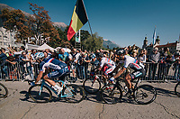 defending triple World Champion Peter Sagan (SVK/Bora-Hansgrohe) mid-race<br /> <br />  MEN ELITE ROAD RACE<br /> Kufstein to Innsbruck: 258.5 km<br /> <br /> UCI 2018 Road World Championships<br /> Innsbruck - Tirol / Austria