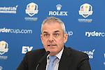 ISPS Handa Wales Open<br /> Ryder Cup Captain Paul McGinley speaking at a press conference.<br /> Celtic Manor Resort<br /> 17.09.14<br /> &copy;Steve Pope-SPORTINGWALES