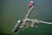 aerial photography Chevron Richmond Long Wharf, Richmond, California