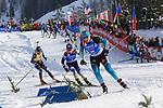 15/12/2019, Hochfilzen, Austria. Biathlon World Cup IBU 2019 Hochfilzen.<br /> Women 12.5 km pursuit race,  Anais Bescond (FRA)