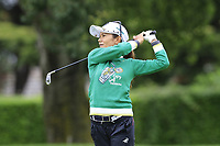 Ai Miyazato (JPN) playing her final tournament of her career   plays her 3rd shot on the 7th hole during Wednesday's Pro-Am Day of The Evian Championship 2017, the final Major of the ladies season, held at Evian Resort Golf Club, Evian-les-Bains, France. 13th September 2017.<br /> Picture: Eoin Clarke | Golffile<br /> <br /> <br /> All photos usage must carry mandatory copyright credit (&copy; Golffile | Eoin Clarke)