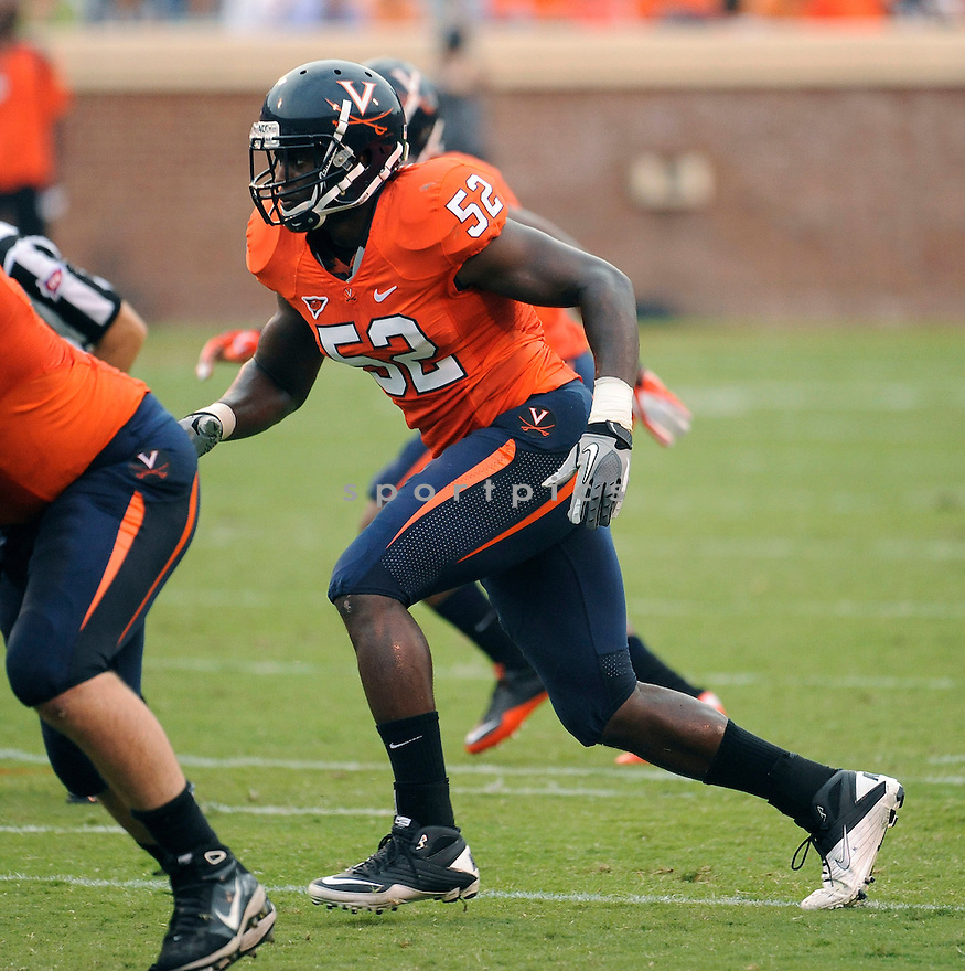 AARON TALIAFERRO, in action during Virginia's game against William and Mary on September 3, 2011 at  Scott Stadium in Charlottesville, Virginia. Virginia beat William & Mary 40-3.