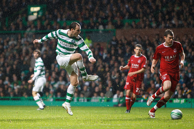 Joe Ledley's cross trundles in for goal no 7 as Anthony Stokes takes a swipe at it