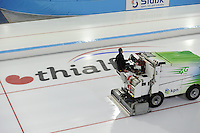 SCHAATSEN: HEERENVEEN: 04-11-2016, IJsstadion Thialf, eerste ijstraining na de ver(nieuw)bouw, training, ©foto Martin de Jong