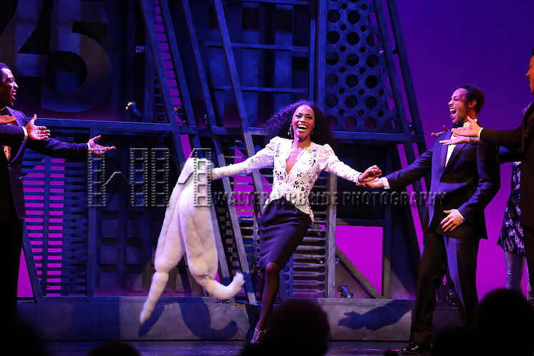 Valisia LeKae  during the Broadway Opening Night Performance Curtain Call for 'Motown The Musical'  at the Lunt Fontanne Theatre in New York City on 4/14/2013..