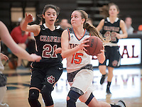 #15 Grace Baranowski. The Occidental College women's basketball team take on Chapman University in Rush Gym, Jan. 12, 2016.<br /> (Photo by Marc Campos, Occidental College Photographer)