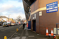 A general View of The Hawthorns, and a sign advertising tonights match  before the Barclays Premier League match between West Bromwich Albion and Swansea City at The Hawthorns on the 2nd of February 2016