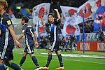 (R-L) Shinji Kagawa, Yuto Nagatomo (JPN),<br /> MARCH 29, 2016 - Football / Soccer :<br /> Shinji Kagawa of Japan celebrates after scoring his team's second goal during the FIFA World Cup Russia 2018 Asian Qualifier Second Round Group E match between Japan 5-0 Syria at Saitama Stadium 2002 in Saitama, Japan. (Photo by AFLO)