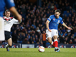 Lee Wallace scores goal no 2 for Rangers as he turns in a short corner kick by team mate Ian Black