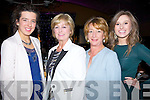 SHOW: Having a great night at the 2013 kerry Rose selection on Friday evening at Ballyroe Heights Hotel, Tralee, l-r: Clodagh Moriarty, Doreen Conway, Gretta Shanahan and Jennifer Conway (Tralee).