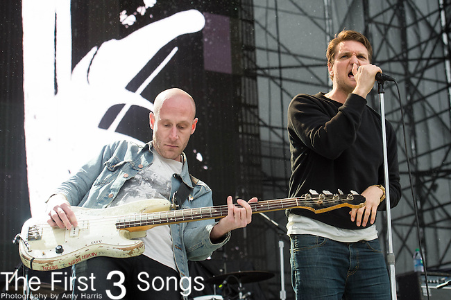 Nathan Willett and Matt Maust of Cold War Kids perform at White River State Park in Indianapolis, Indiana.