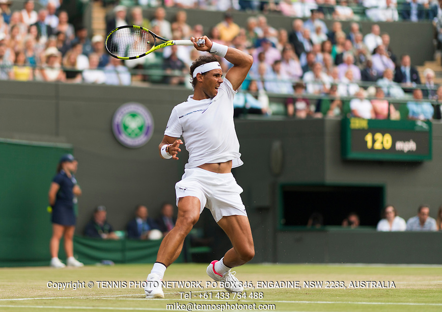 RAFAEL NADAL (ESP)<br /> <br /> TENNIS - THE CHAMPIONSHIPS - WIMBLEDON- ALL ENGLAND LAWN TENNIS AND CROQUET CLUB - ATP - WTA -ITF - WIMBLEDON-SW19, LONDON, GREAT  BRITAIN- 2017  <br /> <br /> <br /> &copy; TENNIS PHOTO NETWORK