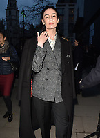 Erin O'Connor at the LFW (Men's) a/w2018 Oliver Spencer catwalk show, BFC Show Space, The Store Studios, The Strand, London, England, UK, on Saturday 06 January 2018.<br /> CAP/CAN<br /> &copy;CAN/Capital Pictures